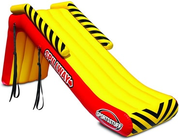 inflatable pontoon slide