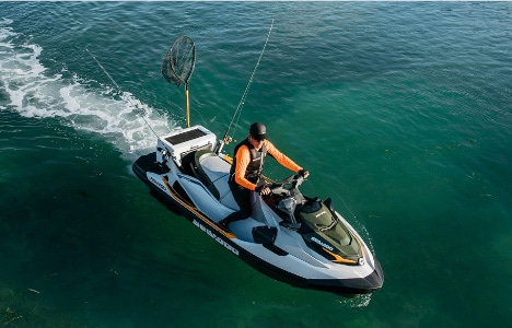 fishing jet ski