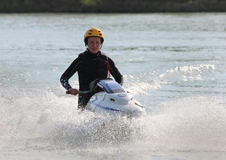 a learner jet ski riding