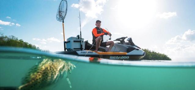 sea doo fish pro at sea