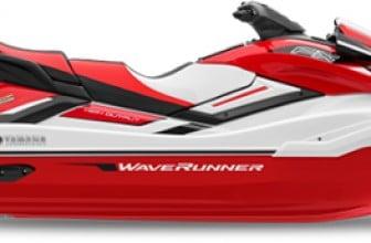 Red yamaha waverunner FX